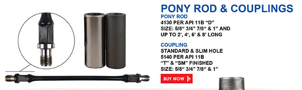 Pony Rod and Couplings